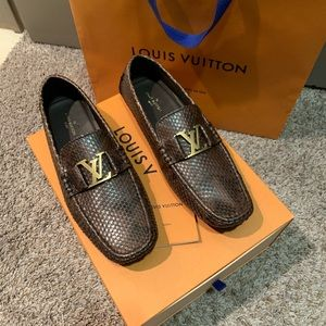 Louis Vuitton Python Loafers LV10 US10.5